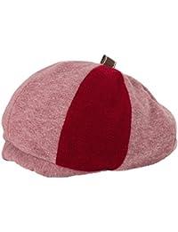 クイーンヘッド 2サイズボリュームスウェットベレー 帽子 ベレー帽 レディース 大きいサイズ スウェット 小顔効果 ベレー 【BIGサイズ(60-64cm)-ストロベリー】