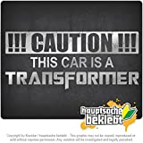 この車はトランスフォーマーです This Car is a Transformer 7,9inch x 3,5inch 15色 - ネオン+クロム! ステッカービニールオートバイ