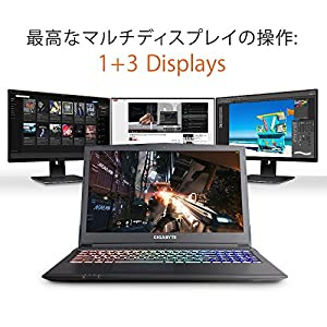 【Amazon.co.jp 限定 RGB キーボード】GIGABYTE Sabre 17 ゲーミングPC・ノートパソコン i7-7700HQ/GTX 1050Ti 4G/17.3インチ/8G/128G M.2 SSD/1TB/2年保証