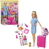 Mattel Barbie FWV25 Travel Doll, Multicolor