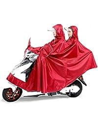 雨具 防水 女性用 通学 便利 ダブル レッド 厚い 乗る レインコート 電気自動車 大人 ポンチョ