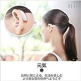 FIIL補聴器 耳かけタイプ デジタル補聴器 軽度?中等度難聴用 左右耳 電池式 聴音補助器イヤホンキャップ付 スマート 雑音抑制機能を搭載 (ぎんいろ)