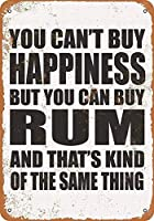 Happiness Rum 金属板ブリキ看板警告サイン注意サイン表示パネル情報サイン金属安全サイン