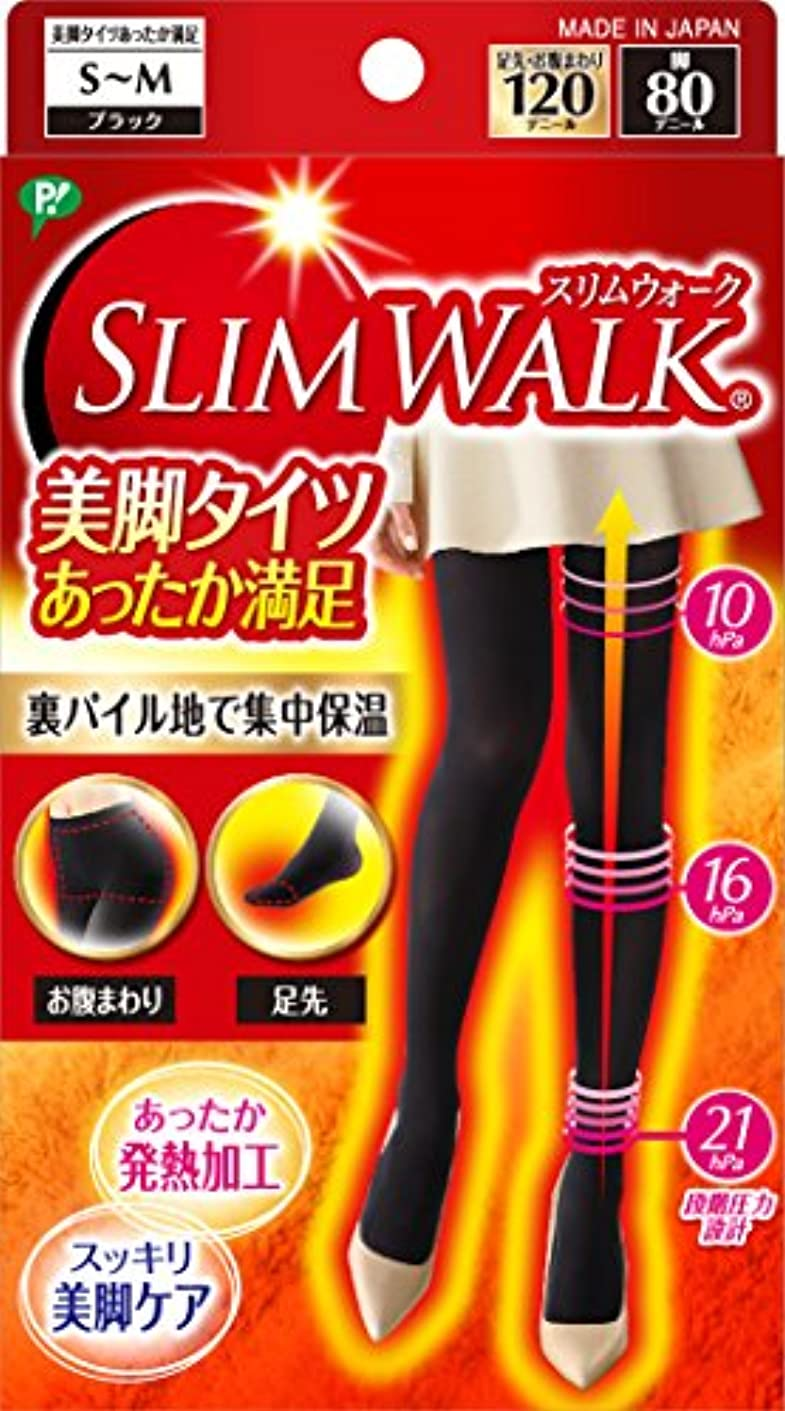 テザープロットうがいスリムウォーク 美脚タイツ あったか満足 ブラック S~Mサイズ(SLIM WALK,tights,SM)