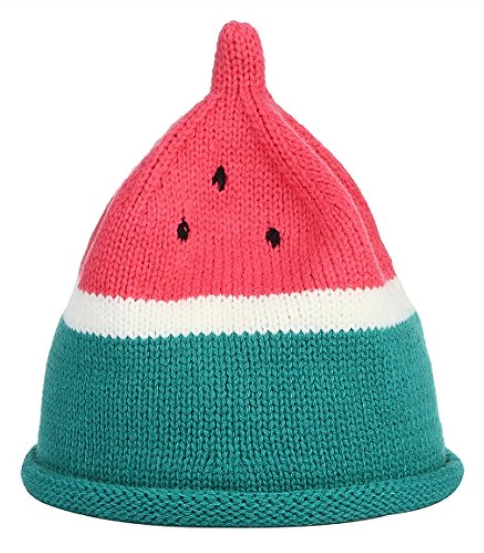 期待謝罪する責任C-Princess ベビー ニット帽子 ニットキャップ とんがり帽子 キッズ 赤ちゃん 女の子 男の子 かわいい スイカ型 コスチューム 記念撮影 出産祝い
