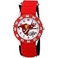 Marvel Kids' W001535 The Avengers Iron Man Red Stainless Steel Watch, Nylon Band