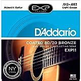 D'Addario ダダリオ アコースティックギター弦 EXPコーティング ブロンズ Light .012-.053 EXP11 【国内正規品】