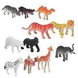 【ノーブランド品】人気動物のフィギュ 動物セット アニマル プラスチック おもちゃ モデル 12個セット 爬虫類