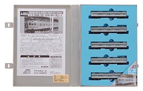 Nゲージ A0053 301系 東西線 青帯・冷房車 基本5両セット
