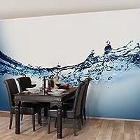 不織布壁紙プレミアム–Fizzy水–ワイド壁画壁紙壁壁画写真機能wall-art壁紙壁画寝室リビングルーム 126x189 inch 94285