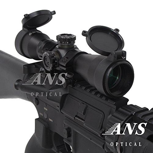 ANS Optical ショートズームライフルスコープ 4x32s 4倍/シーグリーンコート/バトラーキャップ・ローマウント・キルフラッシュ付 ANS Optical