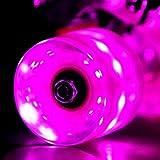 LED スケートボード ウィール Skateboard Wheels 59x45mm 4個セット(ピンク)【Wonnv】