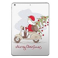 第5世代 iPad iPad5 2017年モデル スキンシール apple アップル アイパッド A1822 A1823 タブレット tablet シール ステッカー ケース 保護シール 背面 人気 単品 おしゃれ クリスマス サンタ 乗り物 009926