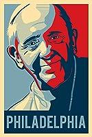 フィラデルフィア、ペンシルベニア州–Pope–LITHOGRAPHYスタイル 12 x 18 Art Print LANT-56383-12x18
