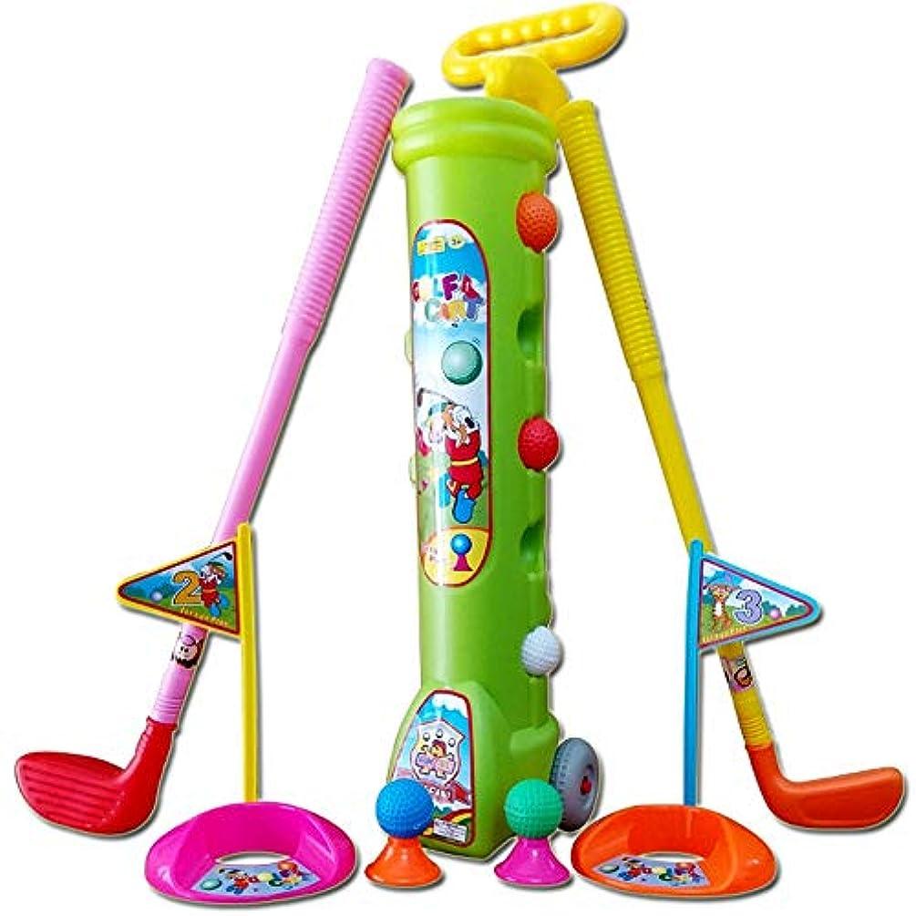 彼らのもの北西権限を与えるゴルフおもちゃ ゴルフ子供用おもちゃセット デラックス3種類のクラブキッズおもちゃゴルフセット5ゴルフボール2練習用穴、子供のための完璧なゴルフセット 子供のため 裏庭/ビーチ/公園に適用 親子活動 (Color : As picture, Size : 60*16*14cm)