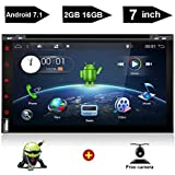 """7"""" Android Auto Double Din DVD WiFi TV Tablet Car Stereo Touch Screen Receiver Bt in-Dash Head Unit Apple Carplay OBD2 DVD/CD/Am/FM Multimedia Fit Nissan Honda Ford Toyota Audi Backup Camera"""