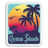 2×10センチメートルケイマン諸島ビニールステッカー - 旅行ステッカーノートパソコンの荷物の#18165(10センチメートルトール)