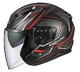 オージーケーカブト(OGK KABUTO) バイクヘルメット ジェット EXCEED CLAW(クロー) フラットブラック (サイズ:XL) 581602