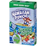 Hawaiian Punch Singles To Go Powder Packets, Water Drink Mix, Green Berry Rush, 96 Single Servings (Pack of 12) - ORIGINAL FL