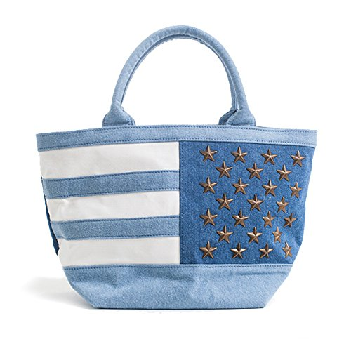 RonHermanレディーストートバッグロンハーマンToteBag星条旗50stars(ブルー)