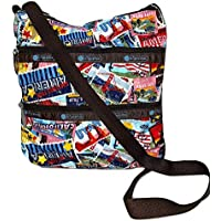 LeSportsac Classic Kylie Crossbody Bag, Exclusive American Stamp Print, Style 3244, Color K547