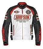 シンプソン(SIMPSON) バイクジャケット メッシュジャケット ホワイト 4L SJ-7117