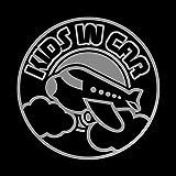 飛行機 kids in car カッティング ステッカー シルバー 銀