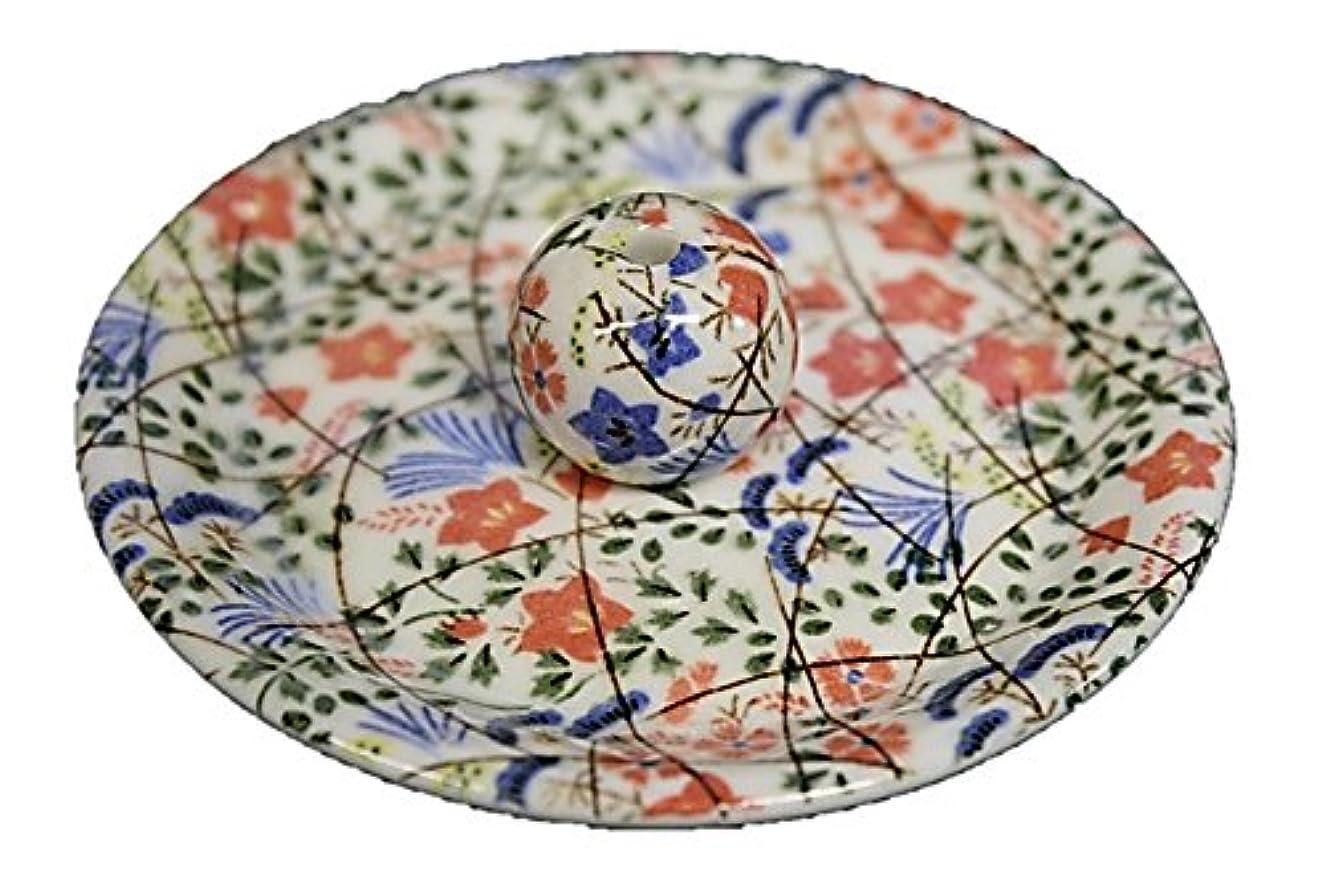 元のジェムもっともらしい9-16 錦織 はな野 9cm香皿 お香立て お香たて 陶器 日本製 製造?直売品