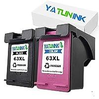YATUNINK 2pk交換用63x lブラックf6u64a &カラーf6u63aインクカートリッジと互換性Officejet 383046504655Envy 45204522プリンタ