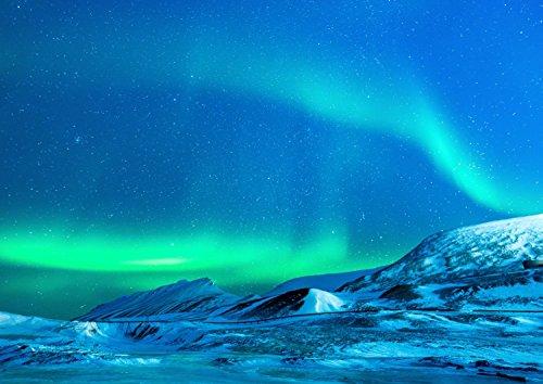 絵画風 壁紙ポスター (はがせるシール式) オーロラ 北極光 ノーザンライト 北極 神秘 キャラクロ ARR-008A2 (A2版 594mm×420mm) 建築用壁紙+耐候性塗料