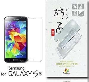 【フル・ブルーム:和の硝子(なごみのがらす)】 新設計 Galaxy S5 国産ガラス採用 強化ガラス製 ガラスフィルム 液晶保護フィルム Samsung ドコモ SC-04F au SCL23 厚さ0.26mm 日本旭硝子社 国産ガラス採用 2.5D 硬度9H ラウンドエッジ加工 (前面フィルム)