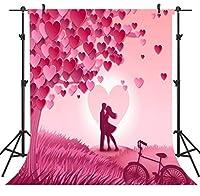 GooEoo 5×7FTバレンタインデーテーマ絵布カスタマイズされた写真背景背景スタジオ支柱VDD032