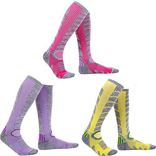 スキーソックス レディース 柔らかい 暖かい 優れた弾力性 抜群 女性靴下 玫紫黄