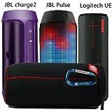 ファションステレオスピーカーバッグ、トラベルバッグ 、スピーカーアクセサリー、オーディオバッグ。自転車を乗る時、ハイキング時、旅行の時はとても便利です。JBL Pulse  Flip1  Charge2 Ultimate Ears BOOMに適用。