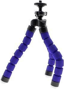スポンジカバー タコ回転可能なフレキシブルな携帯電話のカメラの三脚マウントスタンド  ブルー