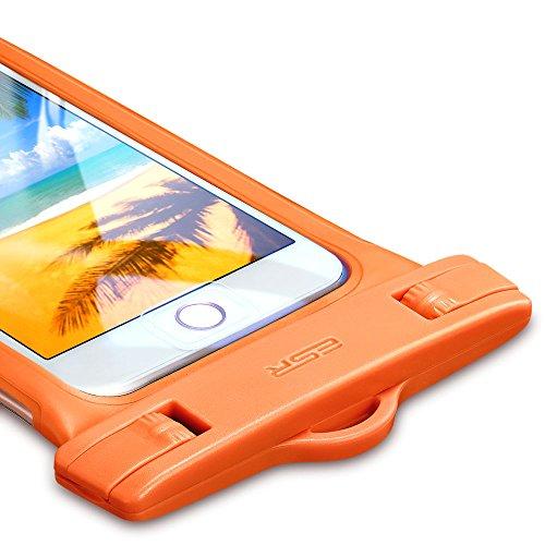 防水ケース ESR、ESR IPX8(防水規格) 防水カバー 入れたままタッチ操作 指紋認証(iPhone 7以降の機種でロック解除可) 対応機種: iPhone X/ 8/8 plus 7/7plus/6s/6/6plus/, Samsung Galaxy S8/S8Plus/S7/S6 Edge その他6インチまでのスマートフォン (オレンジ)防水ケースESR 防水携帯ケース IPX8(防水規格) 防水カバー 入れたままタッチ操作 指紋認証(iPhone 7以降の機種でロック解除可) 対応機種: iPhone X/8/8 plus 7/7plus/6s/6/6plus, Samsung, Huawei, Sony その他6インチまでのスマートフォン 水中撮影 お風呂 海水浴 潜水 水泳 砂浜 水遊びなど適用(オレンジ)