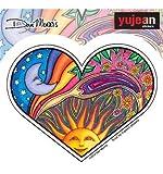 "Night Day Heart - Dan Morris, Waterproof Vinyl Sticker DECAL for Car Bumper Skateboard Laptop Luggage - 3.5"" x 4.6"""