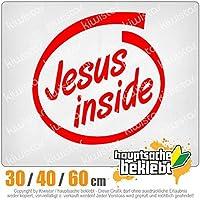 KIWISTAR - Jesus Inside car 15色 - ネオン+クロム! ステッカービニールオートバイ