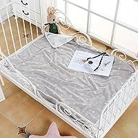 JINALV 新生児 ベビー モスリン 綿 100% 毛布 ブランケット バスタオル おくるみ 授乳ケープ プレイマット 110 * 110 (グレー星)