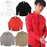 (マイプリンシパルズセレクト) My Principles Select メンズ 長袖 薄手 ワイシャツ カジュアルシャツ (Lサイズ, ベージュ・らくだ色)