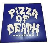 PIZZA OF DEATH(ピザオブデス)ステッカー ブルー×ホワイト