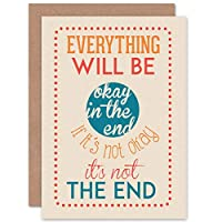 CARD GREETING QUOTE MOTIVATION EVERYTHING WILL BE OKAY