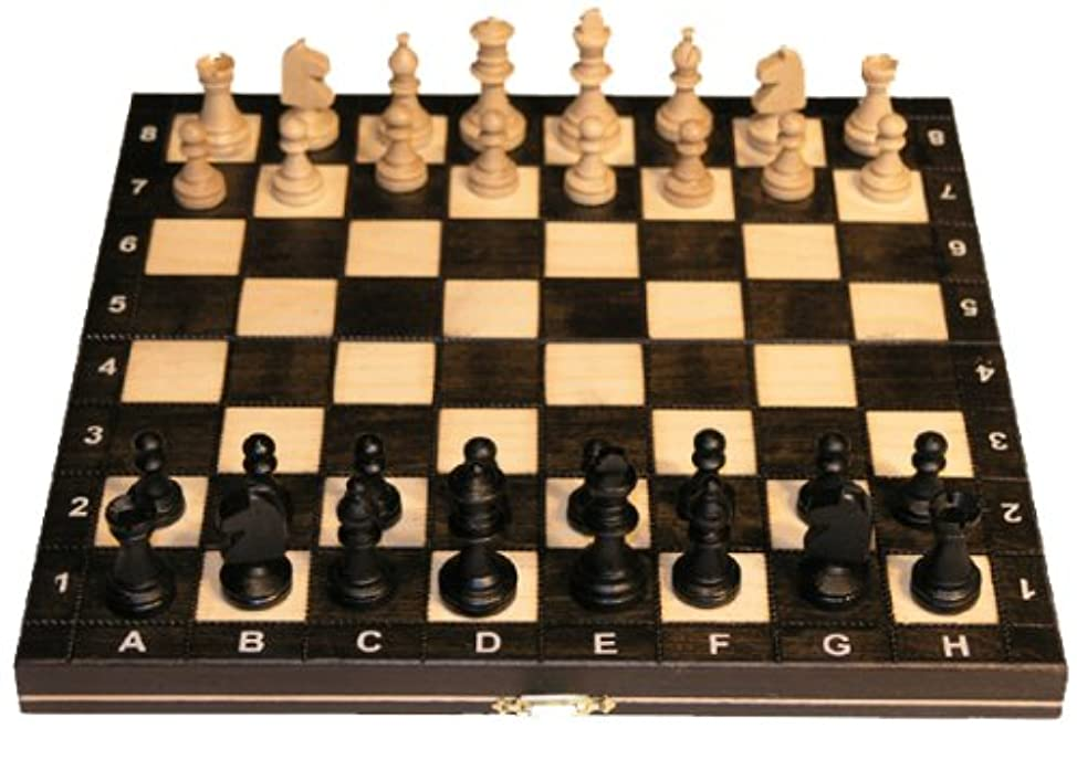 Wooden Magnetic Chess Set - 10 1/2