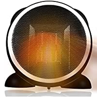 Newiy Start ファンヒーター 足元ヒーター 安全 セラミックヒーター 小型 省エネ 暖房器具 熱風 速暖 電気式ヒーター110V AC給電 暖房機 (1年保証付き)