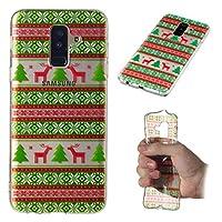 Samsung Galaxy A6 Plus 2018 シェル, カバー, Happon, 保護 衝撃吸収 TPU 軽量 耐久性のある 保護者 シェル 全面保護カバー 携帯電話ケース (Tribes Elk シェル