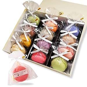 リボン付 マカロン 12個入 手提げ紙袋付き 個包装 天使がくれたマカロン お菓子 プチギフト ギフト