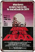 なまけ者雑貨屋 メタルサイン (Dawn of The Dead Movie Poster) さび風デザイン ブリキ看板