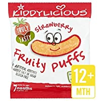 Kiddyliciousイチゴフルーティーパフ10Gの - Kiddylicious Strawberry Fruity Puffs 10g [並行輸入品]