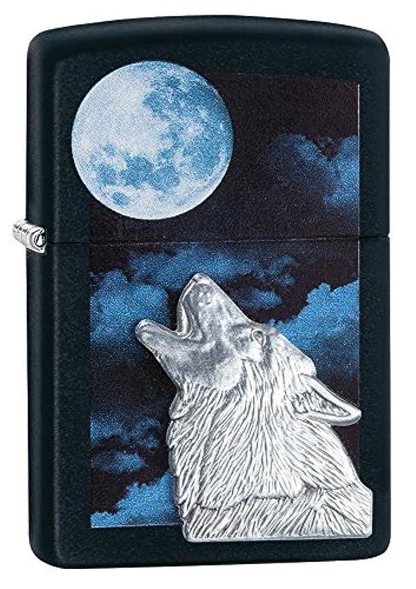 意味のある小道物理的にZIPPO(ジッポー) Wolf (ウルフ) ライター 日本未発売 28879 Black Matte Howling [並行輸入品]