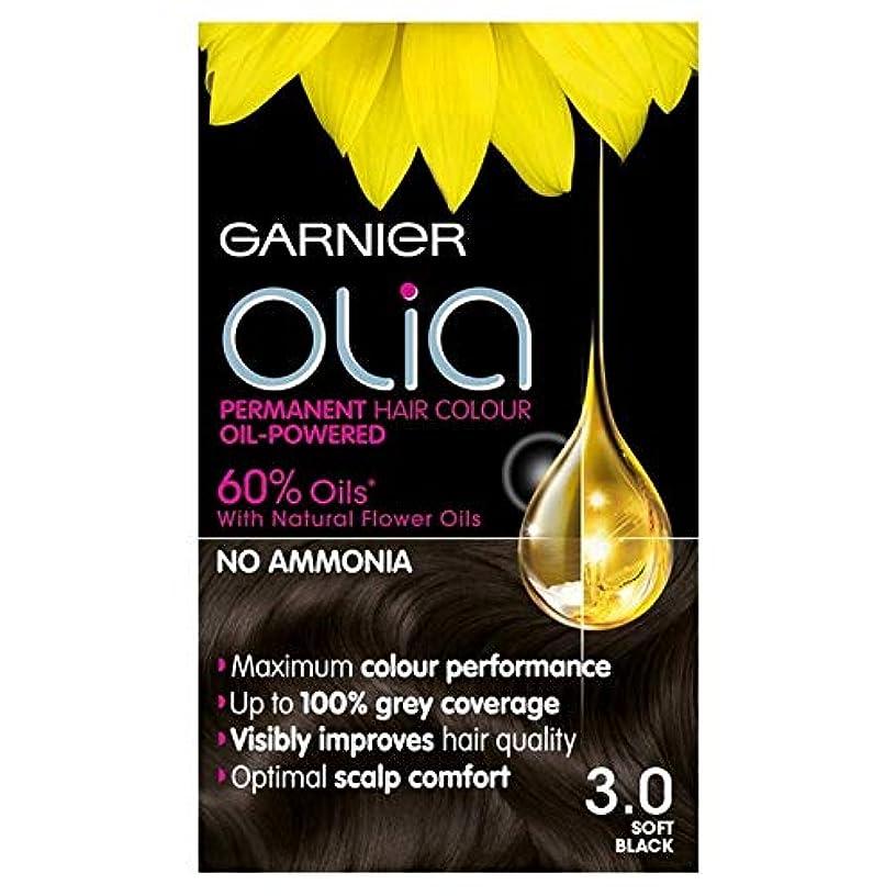 アクセント到着する全体に[Garnier ] 3.0ソフト黒のパーマネントヘアダイOliaガルニエ - Garnier Olia 3.0 Soft Black Permanent Hair Dye [並行輸入品]
